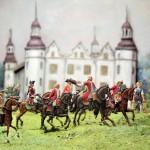 Ahrensburger Schloss, Aufbruch zur Jagd, um 1700