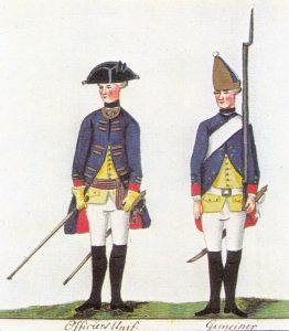 Offizier und Grenadier vom Hessischen Grenadier-Regiment