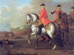König George II. in der Schlacht bei Dettingen