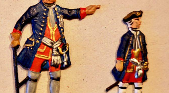 """Kronprinz Friedrich von Preußen und die """"Riesengarde"""" seines Vaters"""