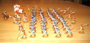 """Kurbrandenburgisches Regiment z. F. """"Belling"""" im Sturm 1689"""